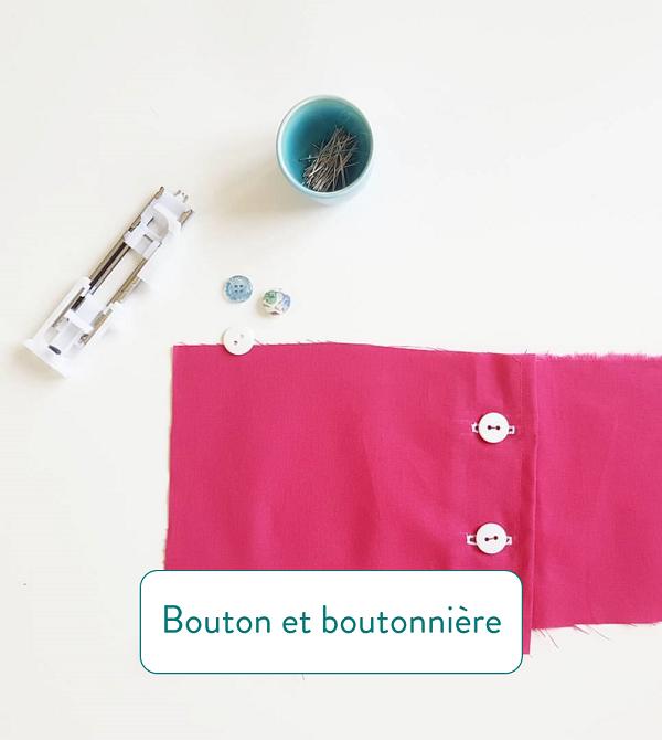 Astuces couture boutonnière et bouton