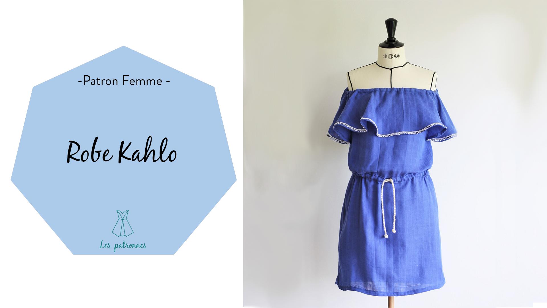 tuto couture vidéos pas-à-pas coudre une robe à volant modèle Kahlo