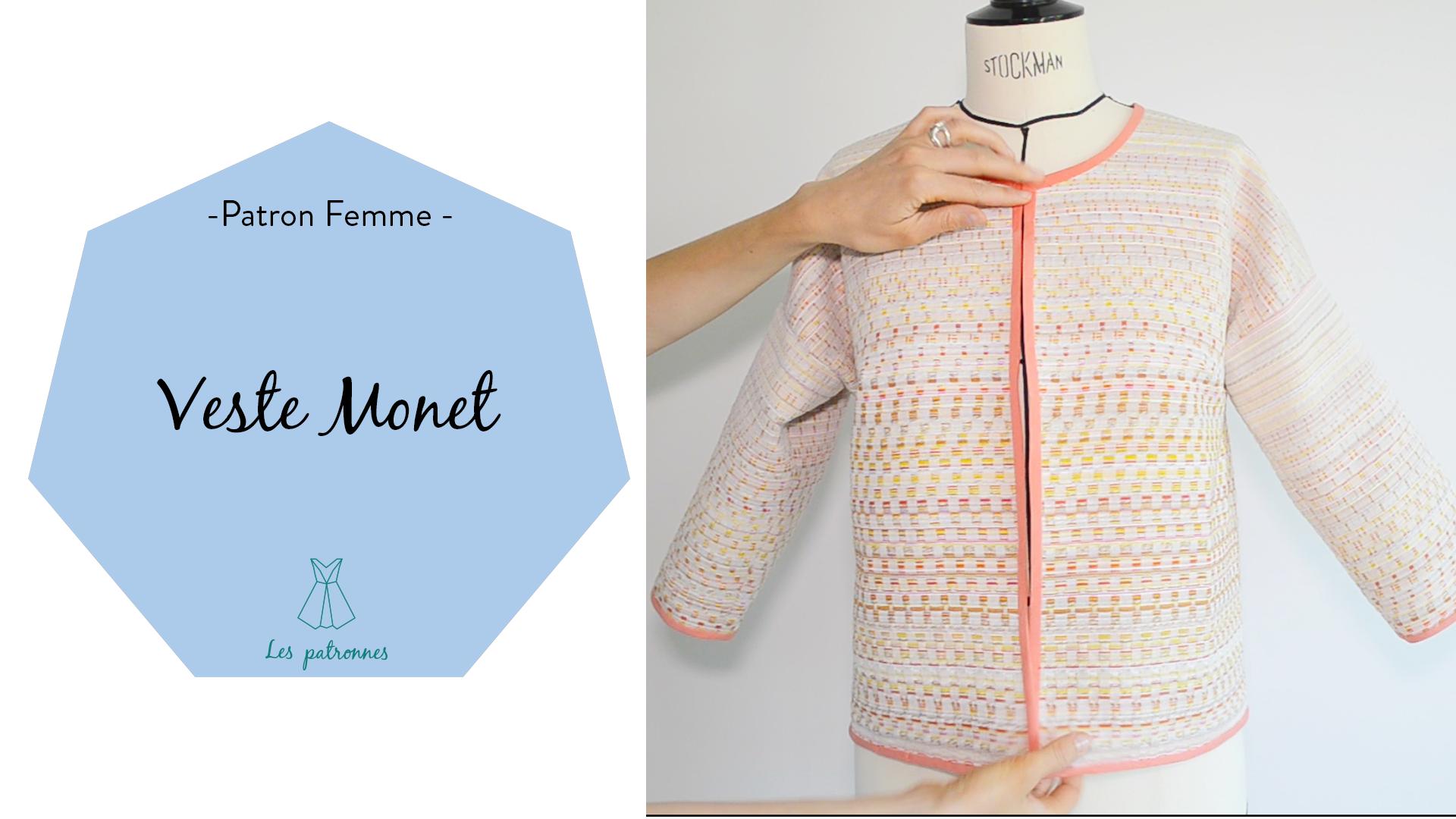 tuto couture vidéos pas-à-pas coudre une veste femme modèle Monet
