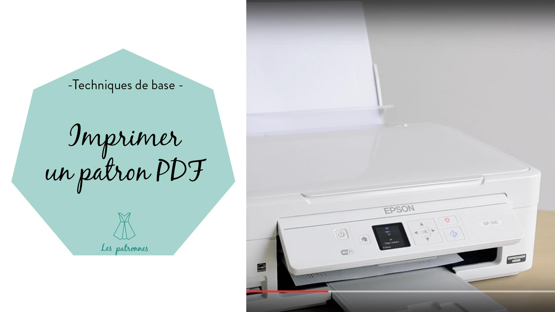 tuto couture vidéos pas-à-pas imprimer un patron PDF