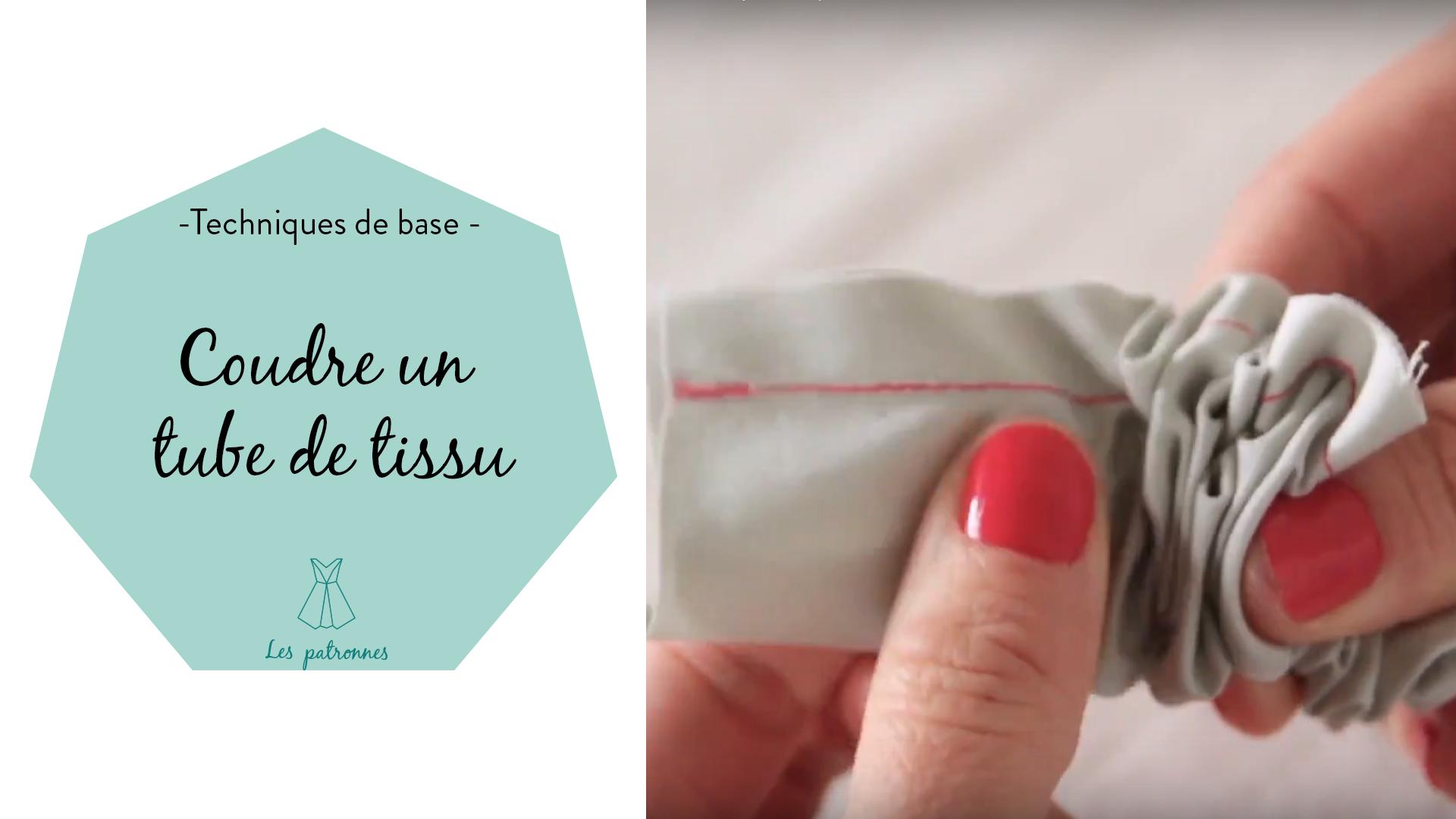 tuto couture vidéos pas-à-pas Coudre un tube en tissu, ceinture, passants, bretelle, anse, nœud décoratif