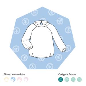 variation col du sweat niki - patron modes et travaux et les patronnes- variation offerte avec code promo