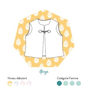 Veste Goya Femme- Patron PDF