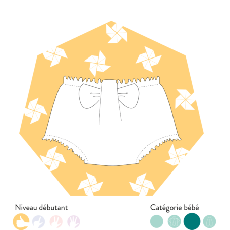 patron bloomer avec noeud morisot