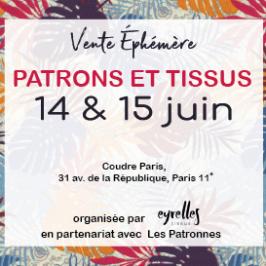Vente de patron à Paris le 14-15 juin