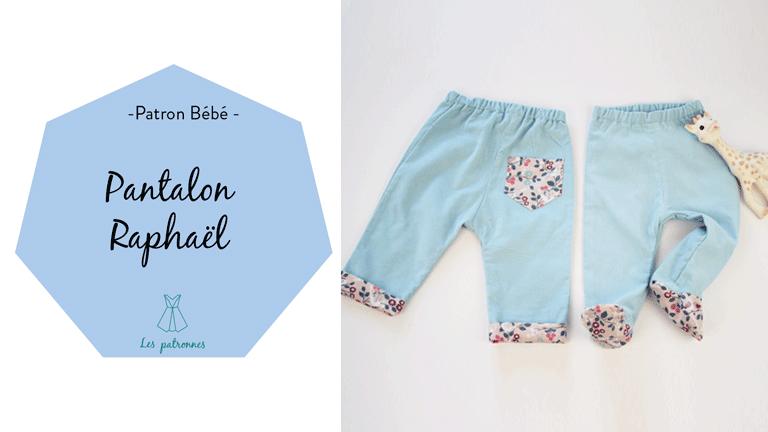 tuto couture vidéos pas-à-pas coudre un pantalon de bébé à revers ou à pied