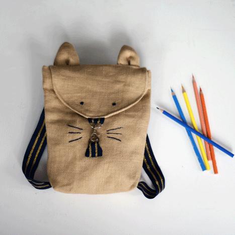 patron de sac maternelle animaux