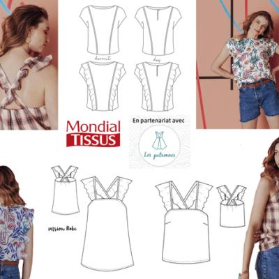 collaboration mondial tissus avec les patronnes-cobranding de patron de couture