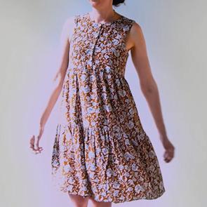 patron de couture facile robe courte ou longue