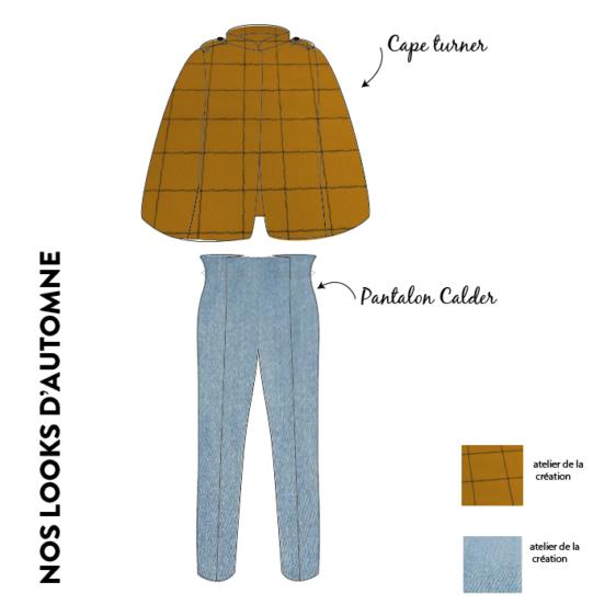 look tendance automne capet turner et pantalon calder