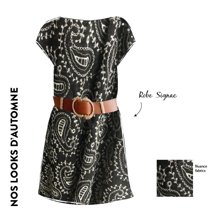 robe signac en broderie anglaise noire